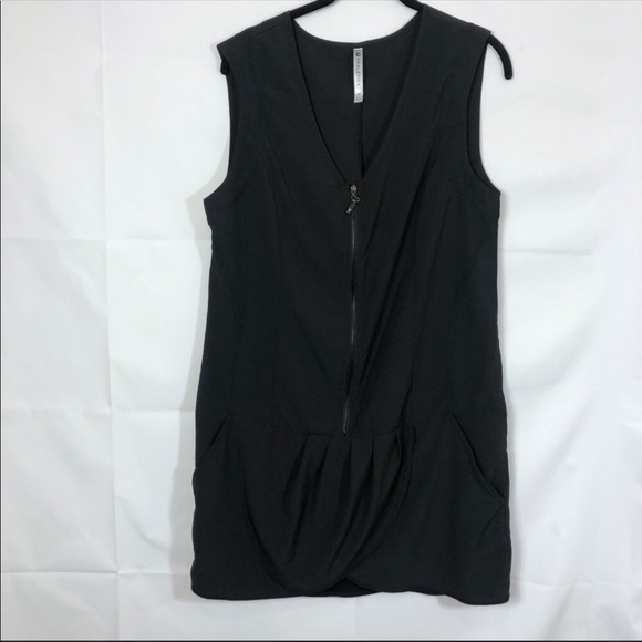 Fabletics Tops - Fabletics Drop Waist Black Workout Tunic Dress